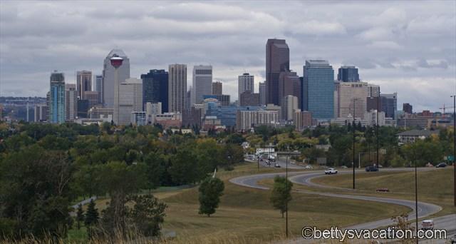 Blick auf Downtown Calgary