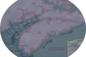 Karte der Bay of Fundy