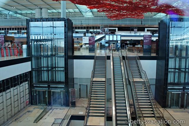 Hauptterminal mit fliegendem Teppich