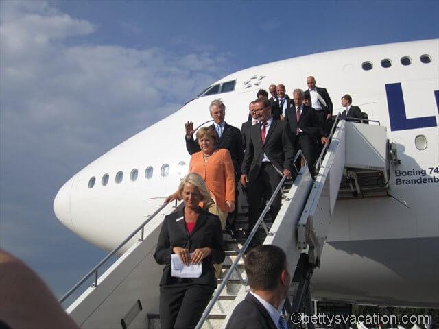 LH Boeing 747-800 mit Merkel
