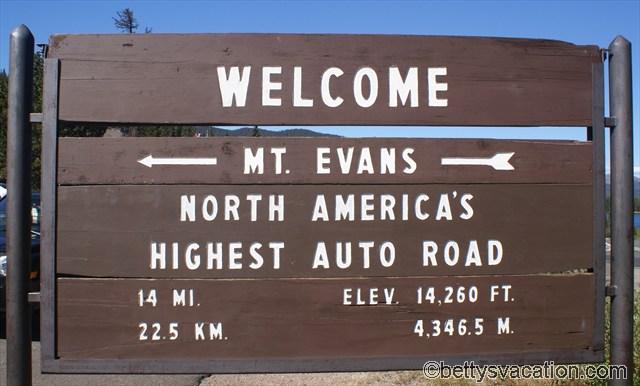 Mt. Evans Schild
