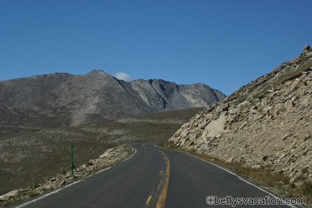 Straße auf den Mt. Evans