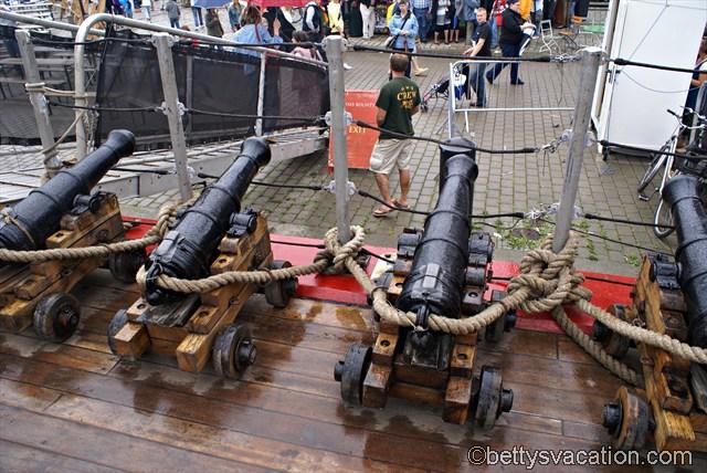 Kanonen der HMS Bounty