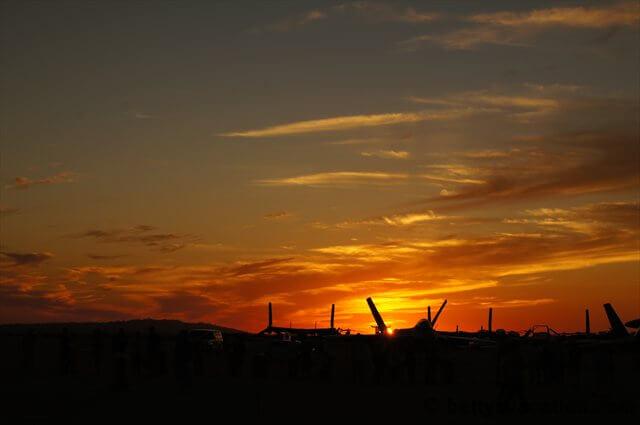 Sonnenuntergang auf der Miramar Air Show