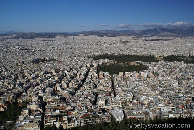 Blick auf Athen
