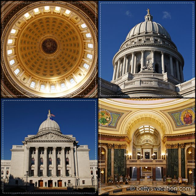 WI State Capitol Collage