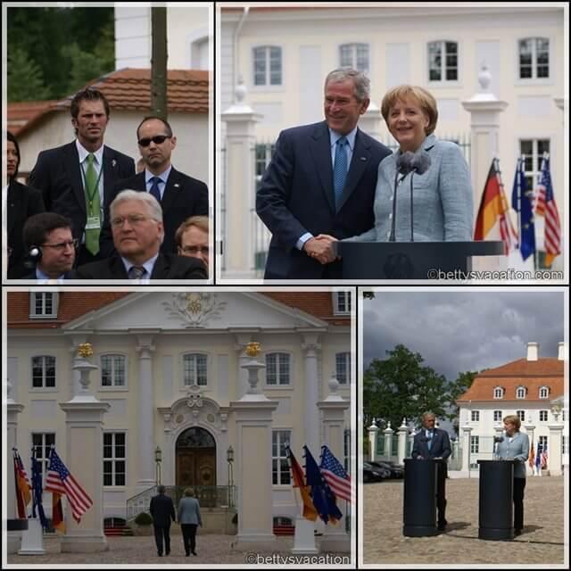 Collage Bush Besuch