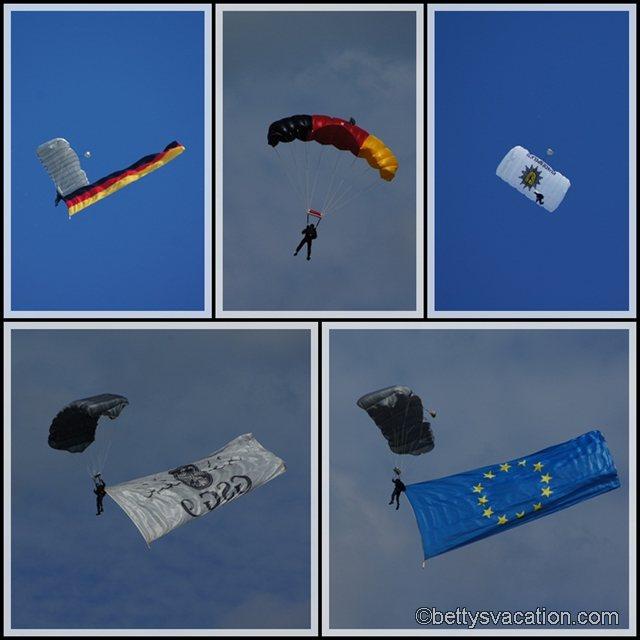Collage Fallschirmspringer