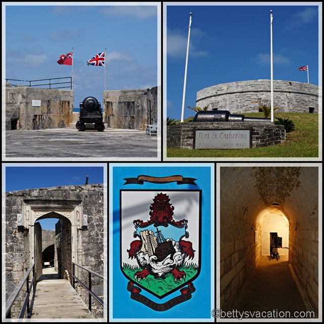 Collage Fort St. Catherine außen