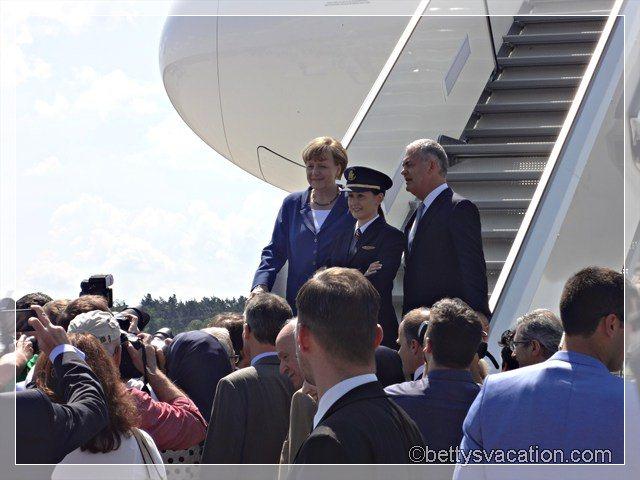 Merkel und A380