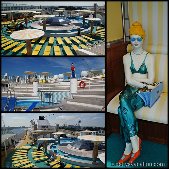 Collage AIDAbella - Pooldeck