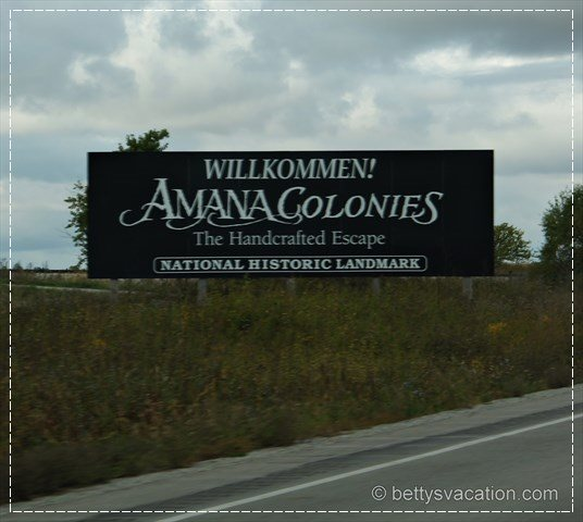 Amana Colonies Sign