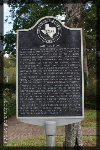Sam Houston Plaque 2