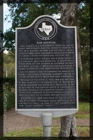 Sam Houston Plaque 2