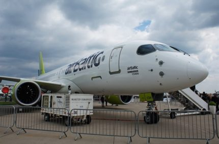 ILA 2018 – airBaltic Bombardier CS300