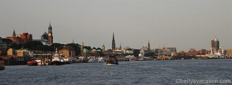 Blick auf die Hamburger Altstadt