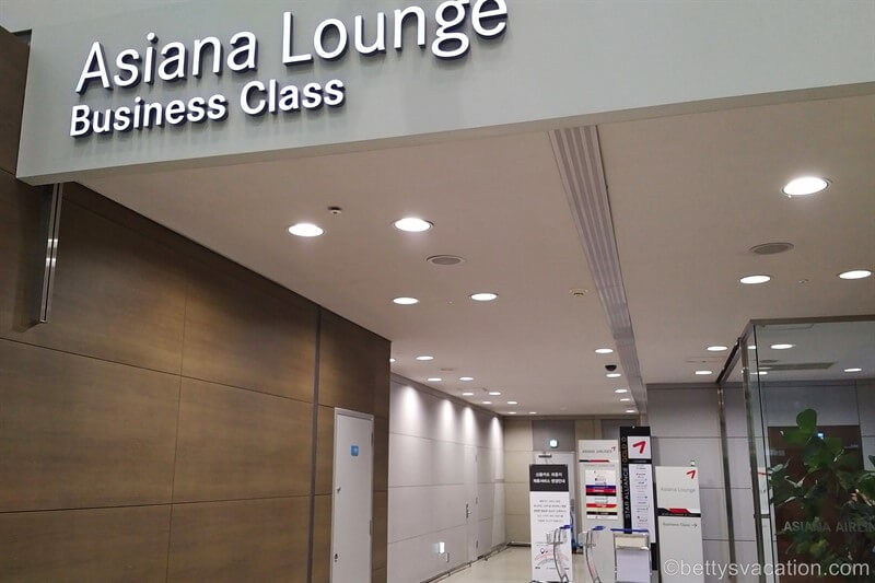 Asiana Business Lounge Seoul-Incheon