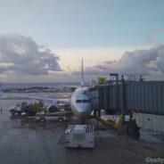 United First Class Boeing 737-700: Guam-Hong Kong