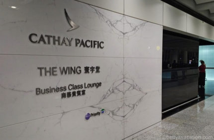 Cathay Pacific Lounge – The Wing Business Class, Hongkong