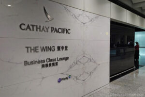 Cathay Pacific Lounge - The Wing Business Class, Hongkong