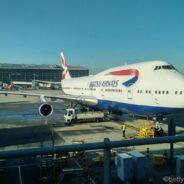 British Airways Club World Boeing 747: New York-London