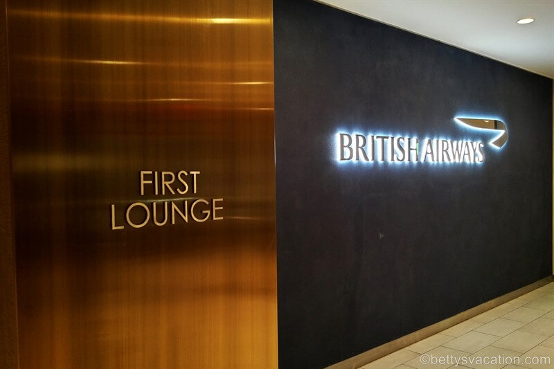 British Airways Galleries First Lounge, JFK Airport, New York
