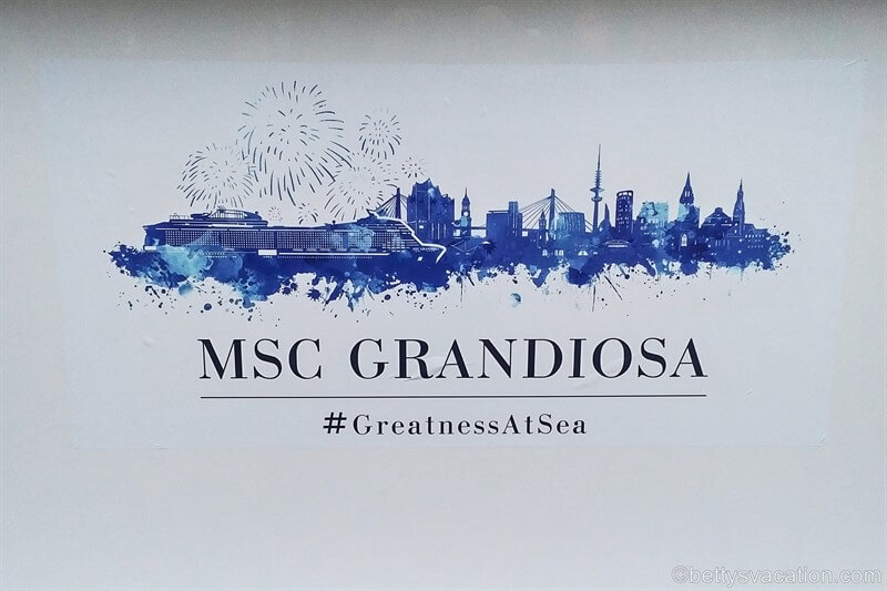 MSC Grandiosa - Die Taufe | Betty's Vacation