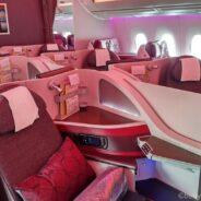 Qatar Airways Business Class Airbus 350: Doha-Stockholm