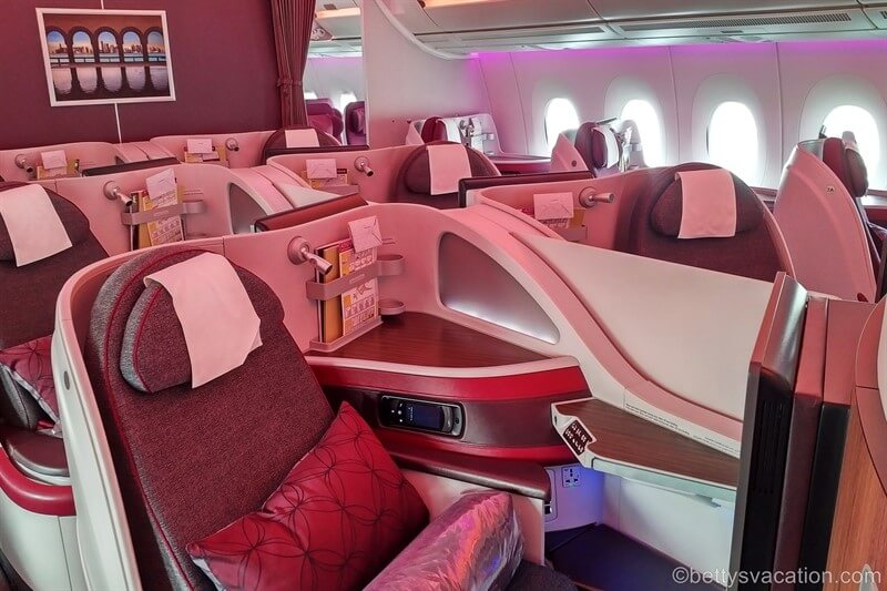 Qatar Airways Business Class Airbus 350: Doha-Stockholm