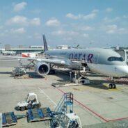 Qatar Airways Business Class (Q Suite) Airbus 350: Singapur-Doha