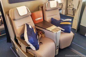 Lufthansa Business Class Airbus 380: München-Los Angeles