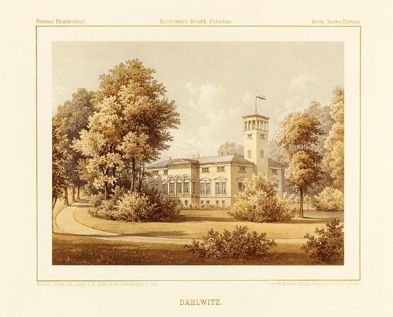 Historische Aufnahme von Schloss Dahlwitz.