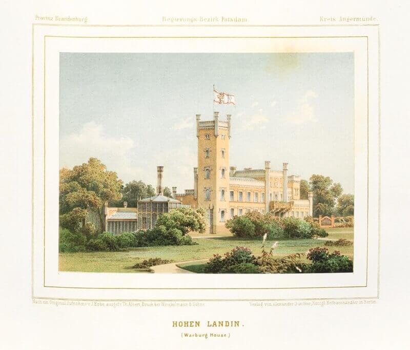 Historisches Bild von Schloss Hohenlandin.
