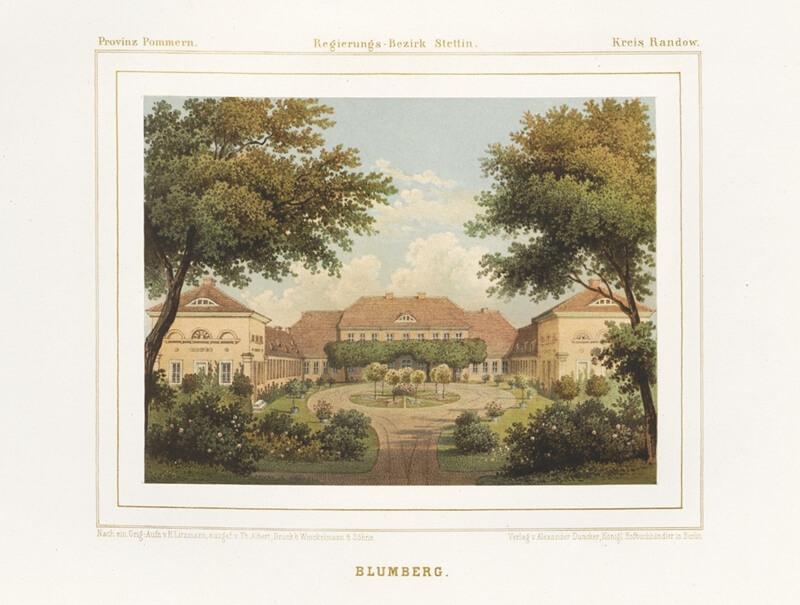 Historische Aufnahme von Schloss Blumberg in der Uckermark.