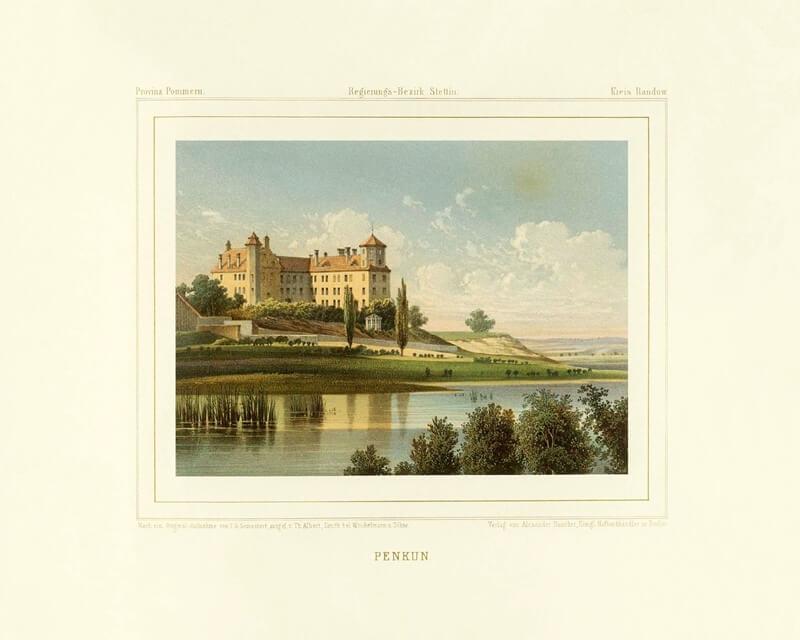 Historische Aufnahme von Schloss Penkun.