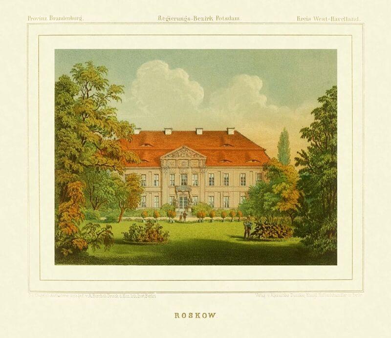 Barocke Schlossfassade mit Schlosspark im Vordergrund.